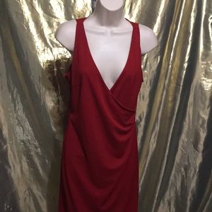 Express red wrap dress size 7/8